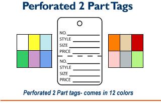 2 Part Tags - Printed