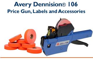 Avery Dennison® 106 - One Line Price Gun & Compatible Labels