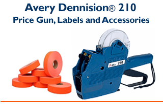 Avery Dennison® 210- Two Line Price Gun & Compatible Labels
