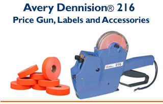 Avery Dennison® 216 - Two Line Price Gun & Compatible Labels