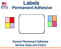 Permanent Adhesive Labels