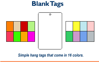 1 Part Tags - Blank