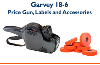Garvey 18-6 - 1 Line Price Gun & Labels
