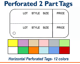2 Part Horizontal Tags