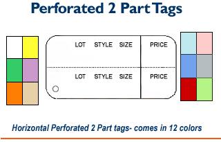 2 Part Horizontal Tags - Printed