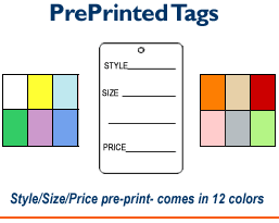 1 Part Tags - Printed
