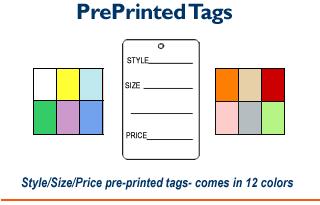 1 Part Tags - Printed