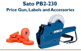 PB2-230 - Two line Price gun and Labels