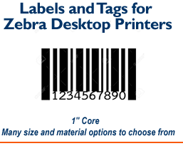 Zebra Printer Labels and Tags