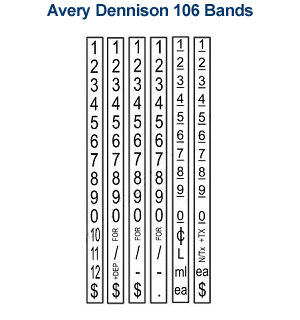 Avery 106 Bands