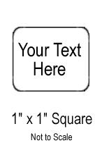 "Custom Sticker - 1"" x 1"" Square"
