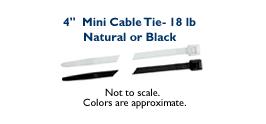 """4"""" Mini Cable Tie - 18lb"""
