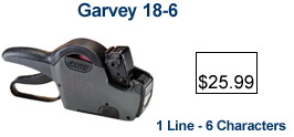 Garvey 18-6 Price Marking Gun