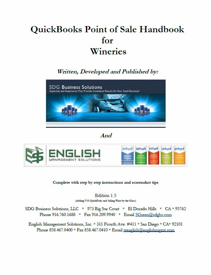 QuickBooks POS Handbook for Wineries