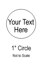 Custom Sticker - 1 Inch Circle