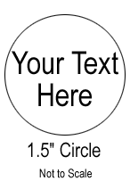 Custom Sticker - 1.5 Inch Circle