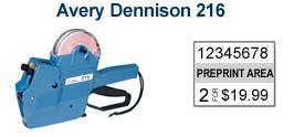Avery Dennison 216/Sato PB2-180 Price Marking Gun