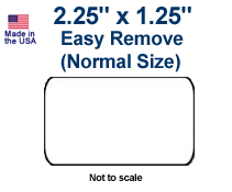 2.25 x 1.25 Labels (Normal) - Easy Remove Adhesive