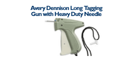 Avery Dennison Long Tagging Gun - with Long Heavy Duty Needle