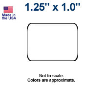 """1.25"""" x 1.0"""" Direct Thermal Labels - Case"""