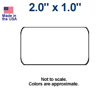 """2""""x1"""" Direct Thermal Labels - Case"""