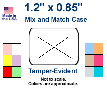 "Tamper-Evident Price Labels - 1.2"" x .85"" - Mix & Match Case"