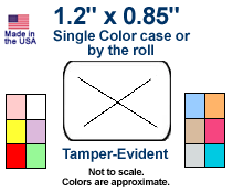 Tamper-Evident 1.2 x .85 Price Labels - Single Color Case or Roll